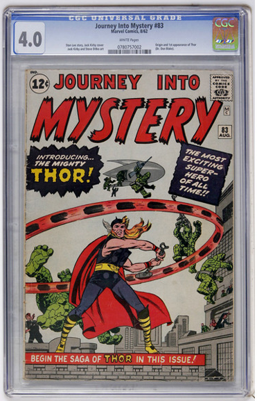 This Journey into Mystery #83 is graded 4.0 by CGC. It is clean, free of major damage and really nice for the grade.