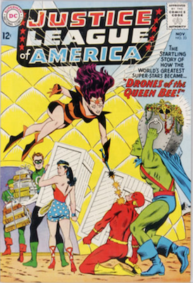 Justice League of America #23: Origin and first appearance of Queen Bee. Click for values