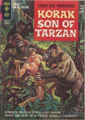 Korak, Son of Tarzan #1 (1964), Gold Key. Click for values