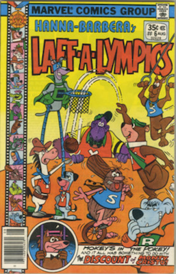 Laff-a-Lympics Comics #6 (Marvel Comics, 1978-79). Features Scooby Doo on some covers. Click for values