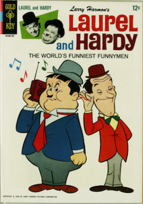 Laurel and Hardy #1 (1967), Gold Key. Click for values