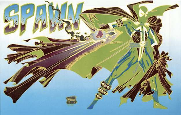 The error variant has a back cover featuring Spawn printed in the wrong colors. Click for values