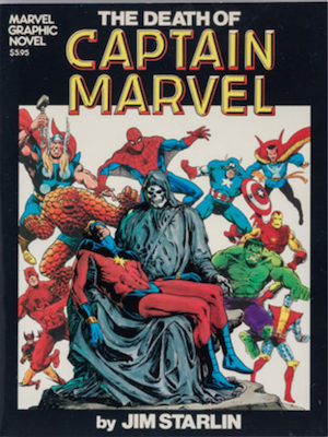 Marvel Graphic Novel #1: Death of Captain Marvel. Click for values