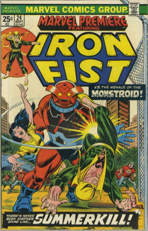 Marvel Premiere #24 (September, 1975): Iron Fist. Click for values