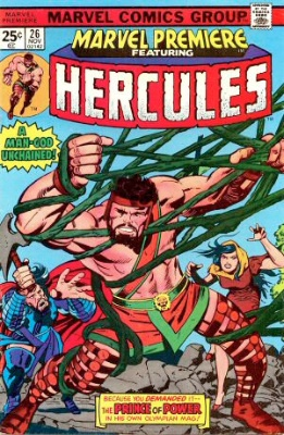 Marvel Premiere #26 (November, 1975): Hercules. Click for values