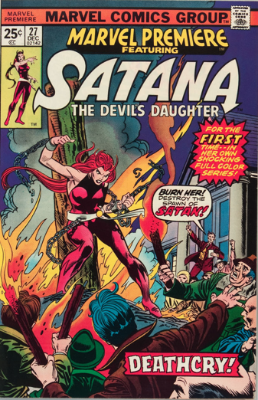 Marvel Premiere #27 (December, 1975): Satana. Click for values