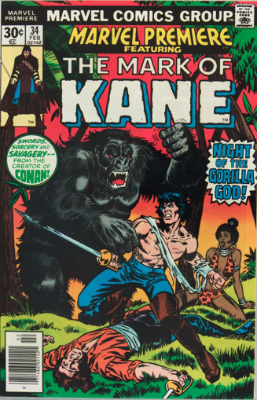 Marvel Premiere #34 (February, 1977): Solomon Kane. Click for values