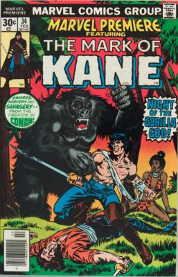 Marvel Premiere #34 (February, 1977): Solomon Kane. Click for values