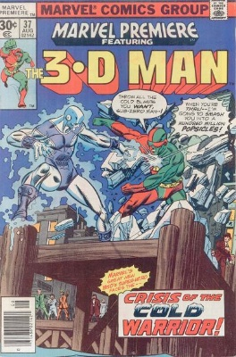 Marvel Premiere #37 (August, 1977): 3-D Man. Click for values