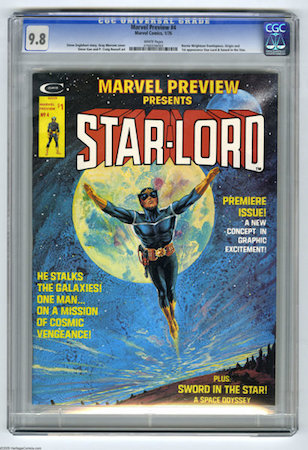A great book to own but MUCH more common than you'd expect, Marvel Preview #4, the first appearance of Star-Lord is nowhere near as important as the first appearance of Groot.