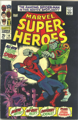 Marvel Super-Heroes #14: New Amazing Spider-Man Story by Ross Andru. Click for values