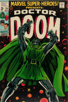 Marvel Super-Heroes #20: Doctor Doom story; also reprints Young Men #24. Click for values