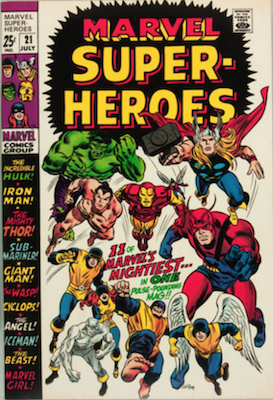 Marvel Super-Heroes #21: reprints begin. Click for values