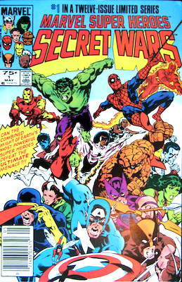 Marvel Super Heroes Secret Wars #1: Newsstand variant. Click for values