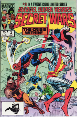 Marvel Super Heroes Secret Wars #3 First appearance of Volcana (Marsha, Rosenberg) and the new Titania (Mary