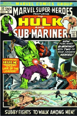 Marvel Super-Heroes #32. First regular sized issue. Click for values