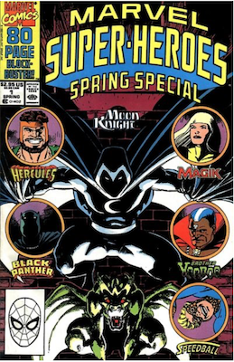 Marvel Super-Heroes #1 (1990): Moon Knight appearance. Click for values.