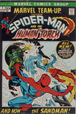 Marvel Team-Up #1: Spidey and Human Torch. Click for values
