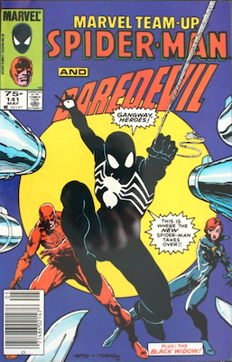 Marvel Team-Up #141: Ties for First Symbiote, Canadian Price Variant. Click for values