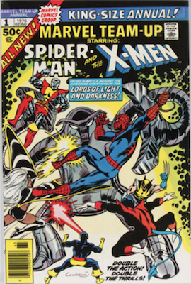 Under-Valued Issue? Marvel Team-Up Annual #1 is an early New X-Men team appearance. Click for values