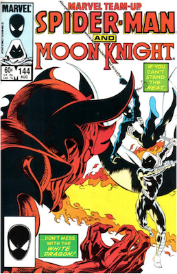 Marvel Team-Up #144: Spider-Man and Moon Knight. Click for values.