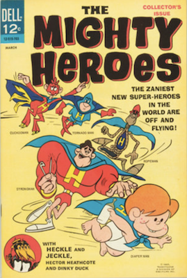Mighty Heroes #1 (1967). Dell Comics. Click for values