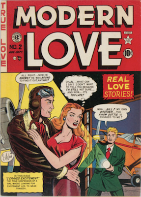 Modern Love #2 by EC Comics. Click for values