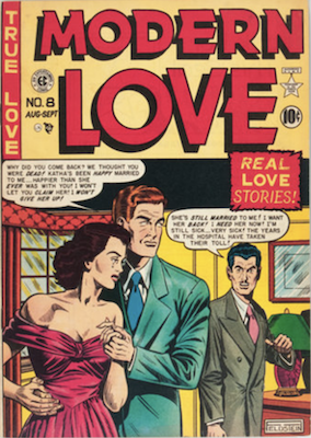 Modern Love #8 by EC Comics. Click for values