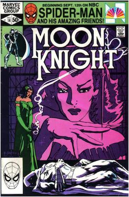 Moon Knight #14. Click for values.
