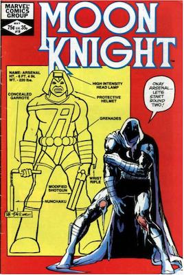 Moon Knight #19. Click for values.