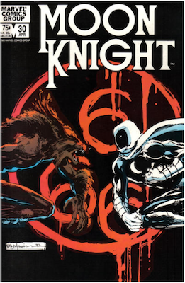 Moon Knight #30. Click for values.