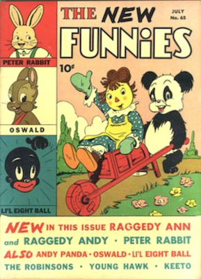 New Funnies #65 (1942). Dell Comics. Click for values