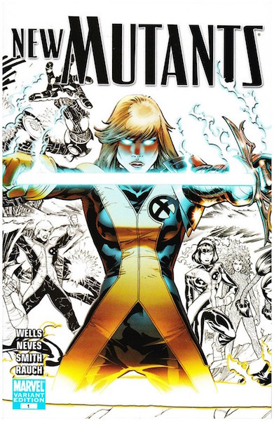 #63: New Mutants 1 Sketch, Kubert (2009). Click for values