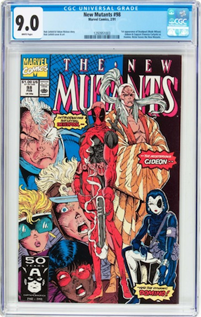 ...THIS copy of New Mutants #98 in CGC 9.0? No brainer, right? They are only $30 apart. YES, THIRTY BUCKS!