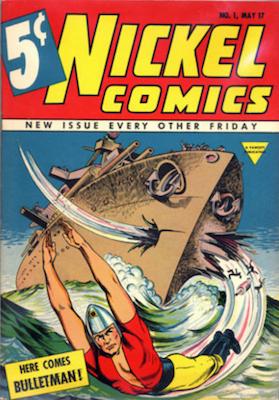 Nickel Comics #1 (1938). Dell. Click for values