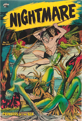 Nightmare #13, rare suspense-type comic by Matt Baker. Click for values