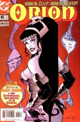 Origin and First Appearance, Mortalla, Orion #6, DC Comics, 2000. Click for value