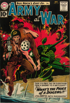 Our Army at War #111: First Appearance of Wee Willy and Sunny. Click for values