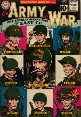 Our Army at War #112: Classic Easy Co. roster cover. Click for values
