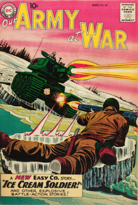 Our Army at War #85: Origin and first appearance, Ice Cream Soldier. Click for current values.