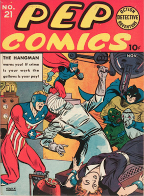 Pep Comics #21. Click for current values.