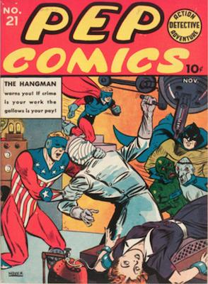 Pep Comics #21. Click for current values.