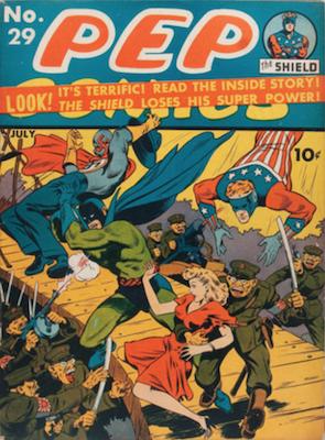 Pep Comics #29. Click for current values.