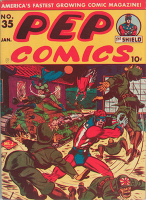 Pep Comics #35. Click for current values.