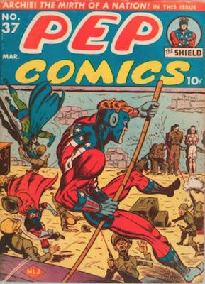 Pep Comics #37. Click for current values.
