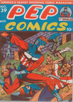 Pep Comics #39. Click for current values.