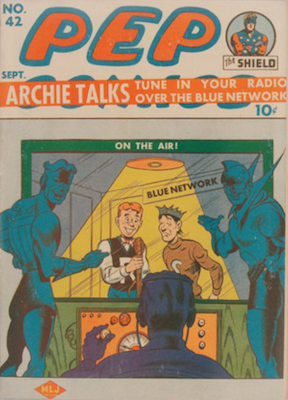 Pep Comics #42. Click for current values.