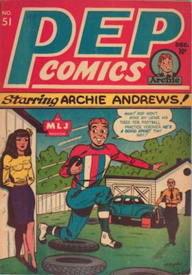 Pep Comics #51. Click for current values.