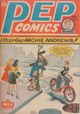 Pep Comics #55. Click for current values.
