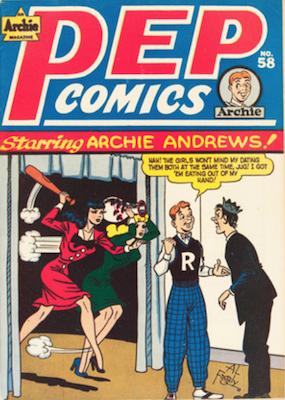 Pep Comics #58. Click for current values.